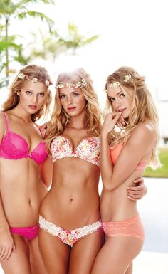 "Recently named Victoria's Secret angel Toni Garrn joins Erin Heatherton and Lindsay Ellingson for the lingerie brand's recent ""Dream Angel"" style book images"