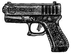 10-mm. Glock handgun