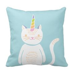 Kitty Unicorn Pillow