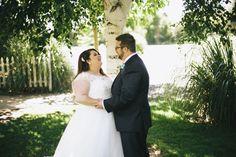 first look, plus size bride, wedding