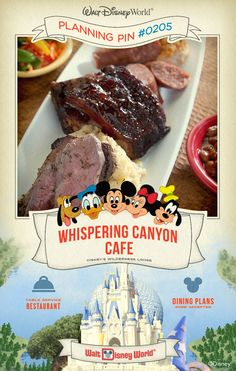 Walt Disney World Planning Pins: Whispering Canyon Cafe