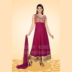 Buy Gorgeous Embroidery #Anarkali Dark Pink Salwar Suit @ Rs.2,870.00 #Salwar  #BuySalwarOnline #BuyAnarkaliInIndia #BuyPartyWearSalwarOnline #FreeShipping
