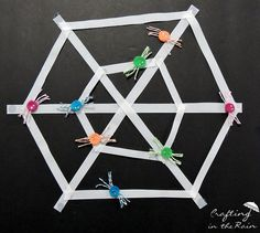 Spider Web Game by @crafting_rain