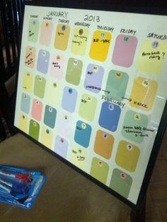 DIY calendar!  :)