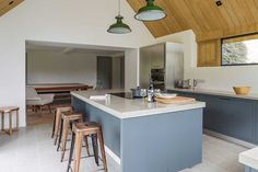A contemporary extension to a Grade II listed home combines traditional materials with clever, contemporary details Single Storey Extension, Cottage Extension, Open Plan Kitchen, Kitchen Ideas, House Extensions, Building A House, Building Ideas, Living Spaces, House Design