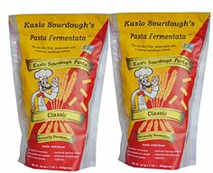 High Protein Organic Pasta, This Sourdough Pasta is a Probiotic super Food that is great for Digestion! Gourmet pasta with Award winning flavor, enjoy KASLO Sourdough Classic Rotini! 2 PACK:   Our ancestors predominantly consumed grains only after they we