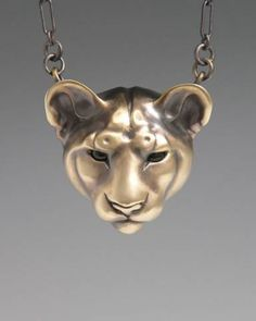 Mountain Lion Jewelry, Handcrafted Silver Jewelry Nature Lovers Gift.   Brooke Stone