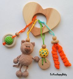 Freeshiping/ Juniper heart / Baby Teether Toy by ForYourHappyBaby