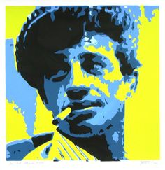 "Saatchi Art Artist Richard Augustin; Printmaking, ""Jean Paul Belmondo"" #art"