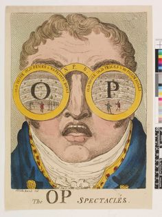 1809 The OP spectacles, print, satirical print, London