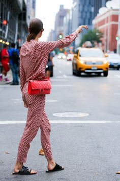 ELLE.com photographer Dan Roberts captures the chicest street style moments from New York Fashion Week, September 2014.