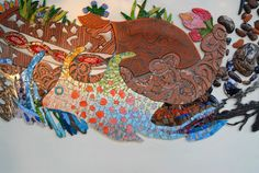 Three Worlds mural | 2009 - 2010  Location: Algo Así Restaurant. Cañamero, Cáceres  Work performanced by Entre Nosotros artisti...