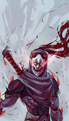 Oni Genji to match the Hanzo one I did ages ago. Overwatch Genji, Overwatch Comic, Overwatch Fan Art, Overwatch Tattoo, Gaming Wallpapers, Animes Wallpapers, Japan Tattoo, Genji Oni, Genji And Hanzo