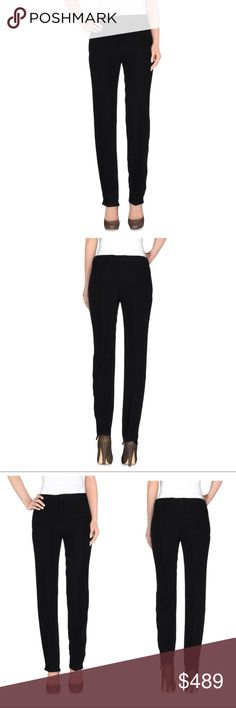 Chloe Crepe Casual Pants Black Sz M or 8 NWT Chloe casual pants in Black - New with Tags in original package. Tune into the Maison's it pants from date night to office work this pants will get you noticed!  Front button enhances the retro attitude with playful detail. Regular waist, close-fitting cut and tailored silhouette are at once cool and flattering. Crepe, basic solid color, mid rise, regular fit, straight leg, no appliques, hook-and-bar, zip, multipockets, tailored  size indicated on…