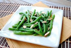 Green Beans with Lemon-Mustard Vinaigrette...quick, easy and healthy. 50 calories, 2.2 g of fat, 5 carbs per cup! These are perfect for summer--they are refreshing bc they are served cold.