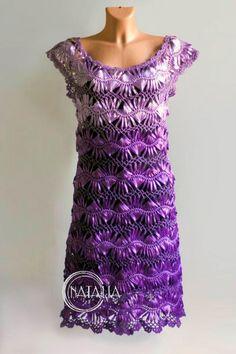 Meu Mundo Craft: Vestido de crochê de grampo