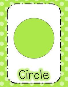 Polka Dot Shape Posters Classroom Posters, Kindergarten Activities, School Classroom, Preschool Activities, Teaching Aids, Teaching Math, Maths, Shapes Flashcards, Preschool Shapes