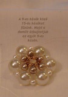 Tiszi gyöngyékszerei: Rozetta minta Rosettes, Pearl Earrings, Pendants, Brooch, Pearls, Pattern, Jewelry, Pearl Studs, Jewlery