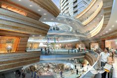 Silkroad Render for Mladost Project Shopping Mall Interior, Atrium, Opera House, Yard, Mansions, Architecture, House Styles, Building, Home Decor