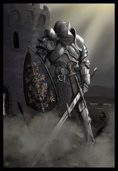 dark art | dark souls by kaffeebohnson fan art digital art painting airbrushing ...