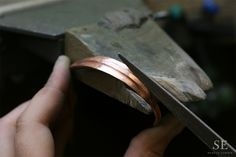 Behind the scenes in our London jewellery workshop - the making of the bespoke brass Viking ring that was custom made by Stephen Einhorn for Angelina Jolie's Maleficent film character