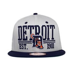 Detroit Tigers The Established Snapback Gray & Team Colors 9fifty New Era