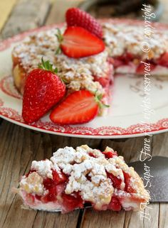 Tart strawberries and crumbled ricotta cheese recipe my know-how Torta Angel, Ricotta Cheese Recipes, My Favorite Food, Favorite Recipes, Southern Desserts, Cheesecake, Best Italian Recipes, Sweet Bakery, Sweet Pie