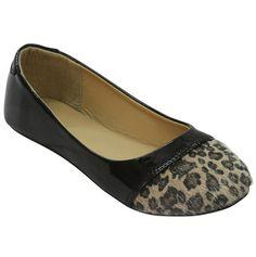 Leopard Toe Ballerina