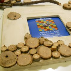 rustic woodsy photo frame