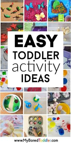 Toddler Activities To Do At Home easy toddler activity ideas that parents can do at home – great activities for toddlers or preschoolers – hands on learning perfect for one year olds, two year olds and three year olds. Educational Activities For Toddlers, Infant Activities, Preschool Activities, Indoor Toddler Activities, Activities To Do With Toddlers, Educational Crafts, Educational Websites, Activities For 2 Year Olds Indoor, Learning Activities For Toddlers
