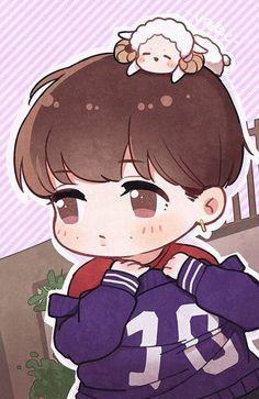 Lay Kpop Exo, Exo Kokobop, Lay Exo, Chanyeol, Exo Cartoon, Cartoon Drawings, K Pop, Exo Anime, Exo Lockscreen
