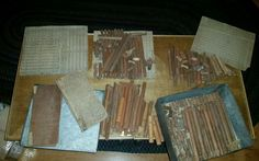 1A 2A 3A Vintage RARE ORIGINAL Lincoln Logs Wood Set HUGE LOT 1920…