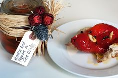 The perfect hostess gift or stocking stuffer, roasted red peppers with garlic and olive oil is a savory gift to share.