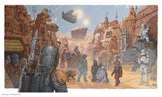 Star Wars Mos Eisley Scene by David Millgate