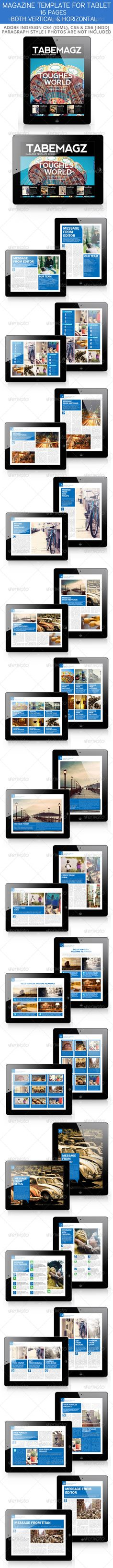 Tabemagz Magazine Template for Tablet
