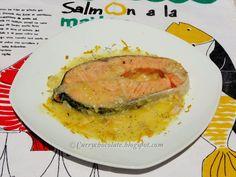 #Salmón con salsa de naranja y limón - #Salmon with orange and lemon sauce