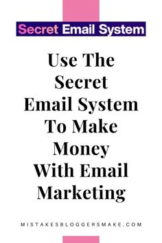 Making money from our email list is where most of our revenue comes from. Learn how to do this with the secret email system.#emailmarketing #emailleads #emailsales Email Marketing Strategy, Marketing Goals, Marketing Automation, Affiliate Marketing, Online Marketing, Digital Marketing, Marketing Ideas, Business Tips, Online Business