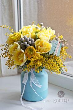 Kviter – Flower shop in Kharkov Bunch Of Flowers, Yellow Flowers, Dried Flowers, Paper Flowers, Flower Box Gift, Flower Boxes, Beautiful Flower Arrangements, Floral Arrangements, Amazing Flowers