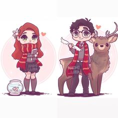 ✨💕 Lily and James Potter 💕✨ (Well I mean at this point it would be Lily Evans, but still Which is your favourite HP couple? 💕 Also this weeks giveaway is now closed and the winner has been messaged 😊 Fanart Harry Potter, Arte Do Harry Potter, Cute Harry Potter, Harry Potter Drawings, Harry Potter Wallpaper, Harry Potter Universal, Harry Potter Fandom, Harry Potter Characters, Harry Potter World