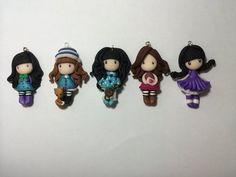 5 Ciondoli Bamboline in fimo - Gorjuss Inspired
