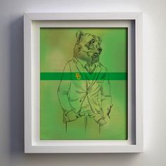 8x10 Dapper Bear with Green Background PRINT on Etsy, $24.99