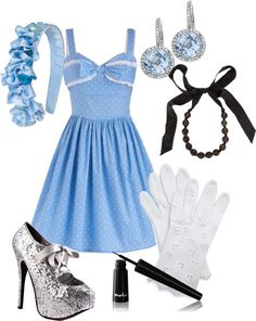 """Cinderella's Garden Party"" by redgingerberry on Polyvore"