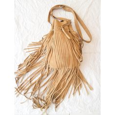FRINGE BAG LEATHER Cross Body Bag Shoulder Bag Sling Bag in Soft Cow... (175 CHF) ❤ liked on Polyvore featuring bags, handbags, shoulder bags, crossbody shoulder bag, crossbody tote bag, handbags totes, crossbody tote and leather tote