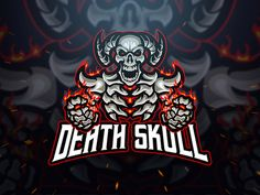 Death Skull Logo and Esport Logo Template by Blankids on Envato Elements King Sport, E Sport, Skull Logo, Logo Gaming, Cores Rgb, Wolf, Game Logo Design, Envato Elements, Esports Logo