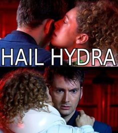 What River really whispered to the Doctor in the Library.  No wonder he was so freaked.  Doctor Who/Marvel crossover