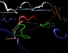 Blowing Wind Light painting