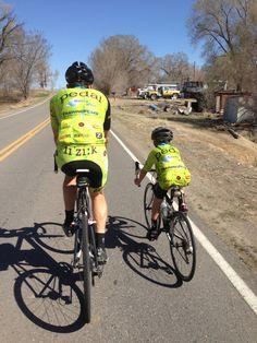Road biking as a family..