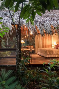 Anavilhanas Jungle Lodge is a winner in the All-Inclusive Vacations category. We love it's environmental focus. Surf Shack, Beach Shack, All Inclusive Vacations, Hotels And Resorts, Top Hotels, Style Tropical, Bamboo House Design, Jungle Resort, Jungle House