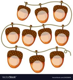 Find Set Acorn On String Illustration stock images in HD and millions of other royalty-free stock photos, illustrations and vectors in the Shutterstock collection. Thousands of new, high-quality pictures added every day. Educational Activities For Kids, Printable Activities For Kids, Montessori Activities, Book Activities, Letter Tracing Worksheets, Number Tracing, Hipster Drawings, Creative Teaching Press, Page Borders Design
