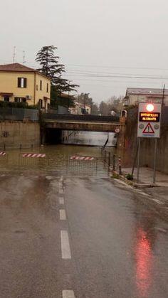 Pescara il sottopasso di Fontanelle allagato nonostante i lavori